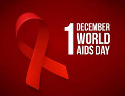 Red ribbon sign of HIV/AIDS